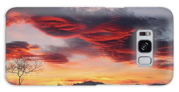 Colorful Dawn Over New Mexico's Peloncillo Mountains Galaxy Case