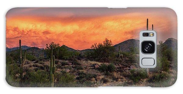 Galaxy Case featuring the photograph Colorful Desert Skies At Sunset  by Saija Lehtonen