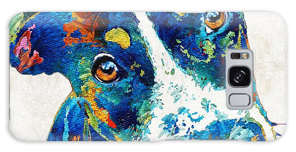 Colorful Dog Art - Happy Go Lucky - By Sharon Cummings Galaxy Case