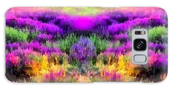 Colorful Field Of A Lavender Galaxy Case by Anton Kalinichev