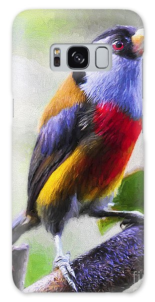 Song Birds Galaxy Case - Colorful Finch Degas Style by Garland Johnson
