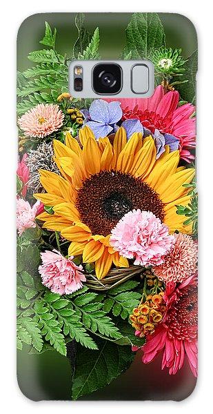 Colorful Flower Arrangement Galaxy Case