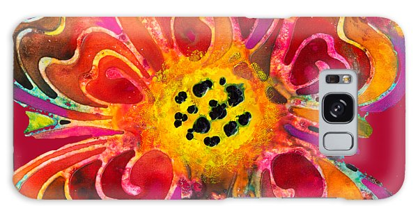 Colorful Flower Art - Summer Love By Sharon Cummings Galaxy Case