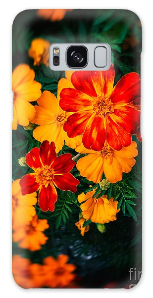 Colorful Flowers Galaxy Case