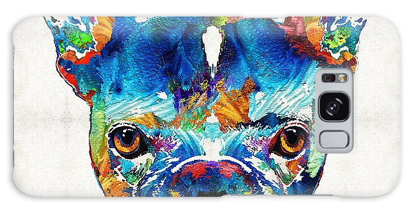 Colorful French Bulldog Dog Art By Sharon Cummings Galaxy Case