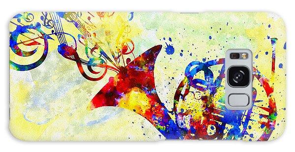 Colorful French Horn Galaxy Case by Olga Hamilton