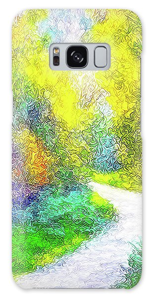 Colorful Garden Pathway - Trail In Santa Monica Mountains Galaxy Case