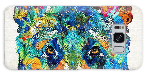 Colorful German Shepherd Dog Art By Sharon Cummings Galaxy Case