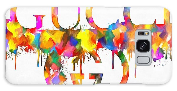Logo Galaxy Case - Colorful Gucci Paint Splatter by Dan Sproul