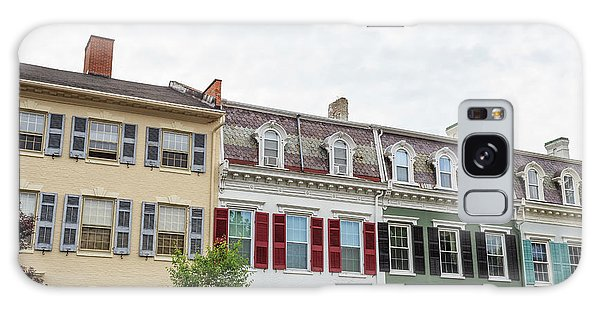 Lake Geneva Galaxy Case - Colorful Historic Row Houses by Edward Fielding