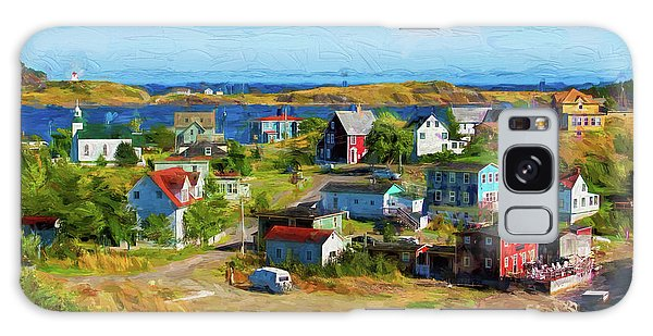 Colorful Homes In Trinity, Newfoundland - Painterly Galaxy Case