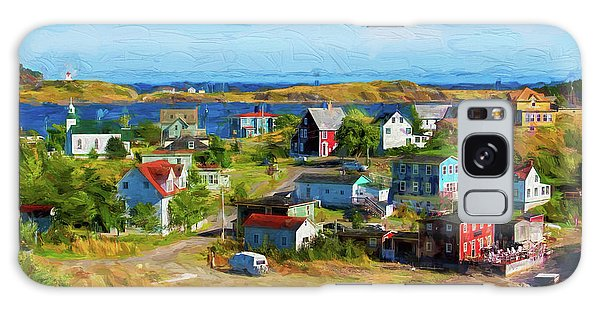 Colorful Homes In Trinity, Newfoundland - Painterly Galaxy Case by Les Palenik
