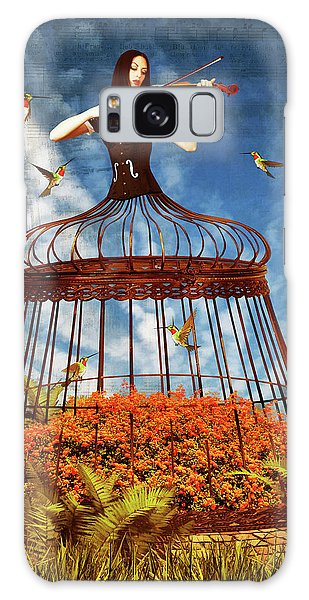 Colorful Hummingbird Song Galaxy Case by Mihaela Pater
