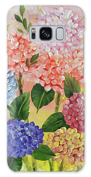 Colorful Hydrangeas Galaxy Case