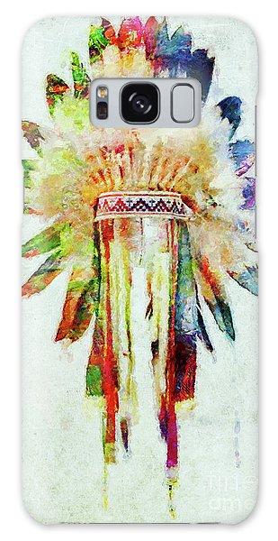 Colorful Lakota Sioux Headdress Galaxy Case by Olga Hamilton