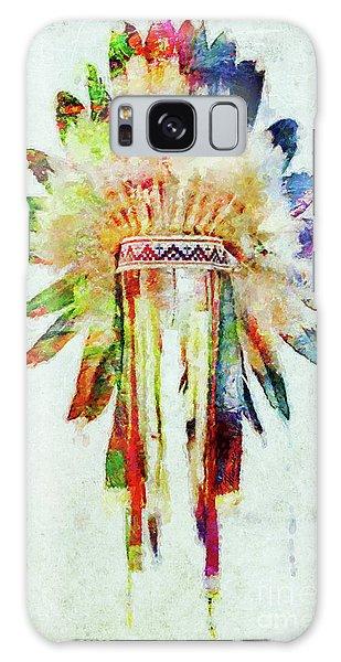 Colorful Lakota Sioux Headdress Galaxy Case