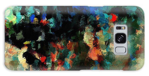 Colorful Landscape / Cityscape Abstract Painting Galaxy Case by Ayse Deniz