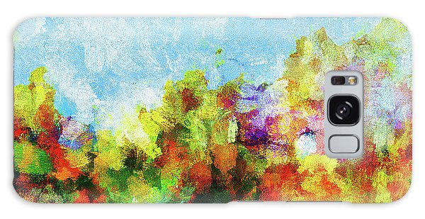 Colorful Landscape Painting In Abstract Style Galaxy Case by Ayse Deniz