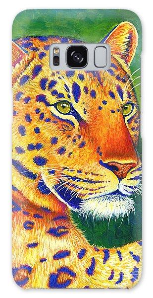 Colorful Leopard Portrait Galaxy Case