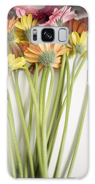 Colorful Long Stemmed Gerbera Daisies Galaxy Case