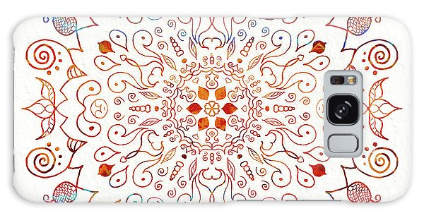 Colorful Mandala On Watercolor Paper Galaxy Case