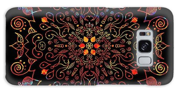 Colorful Mandala With Black Galaxy Case