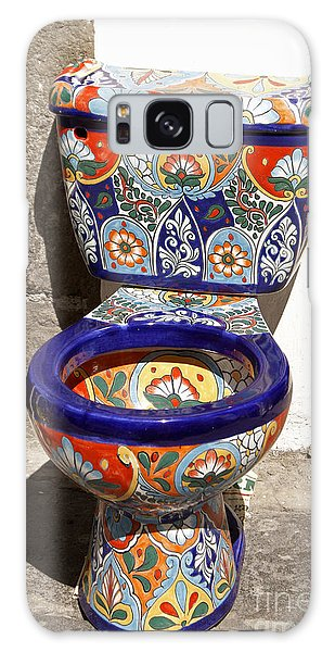 Colorful Mexican Toilet Puebla Mexico Galaxy Case