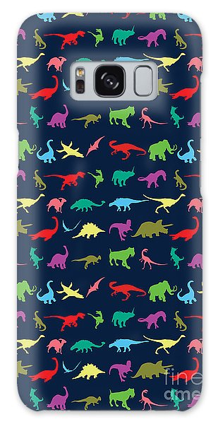 Colorful Mini Dinosaur Galaxy Case