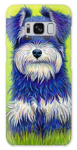 Colorful Miniature Schnauzer Dog Galaxy Case