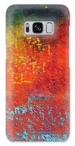 Galaxy Case featuring the painting Colorful Night by Nancy Merkle