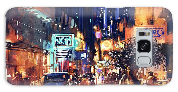 Colorful Night Street Galaxy Case