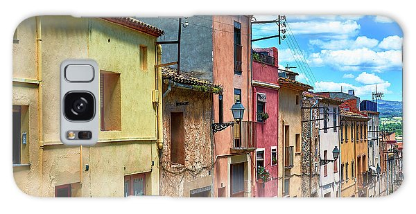 Colorful Old Houses In Tarragona Galaxy Case