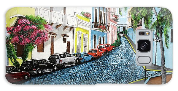 Colorful Old San Juan Galaxy Case by Luis F Rodriguez