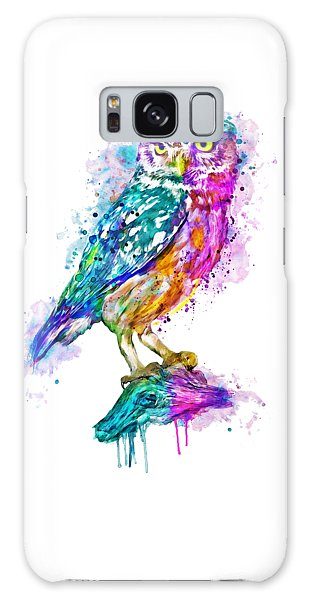 Colorful Owl Galaxy Case by Marian Voicu
