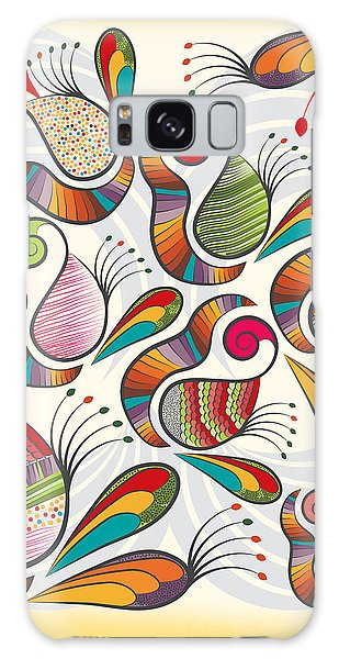 Colorful Paisley Pattern Galaxy Case