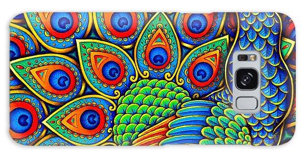 Colorful Paisley Peacock Galaxy Case