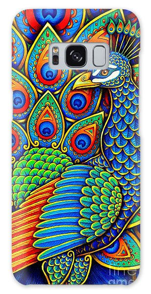 Colorful Paisley Peacock Galaxy Case