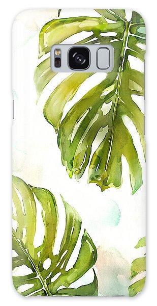 Leaf Galaxy Case - Colorful Palm by Mauro DeVereaux