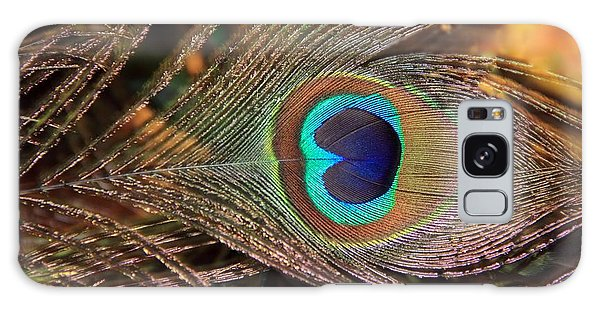 Colorful Peacock Feather Galaxy Case