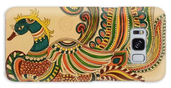 Madhubani Galaxy Case - Colorful Peacock by Jandyam Kiranmayee