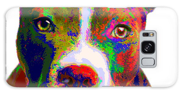 Colorful Pit Bull Terrier  Galaxy Case