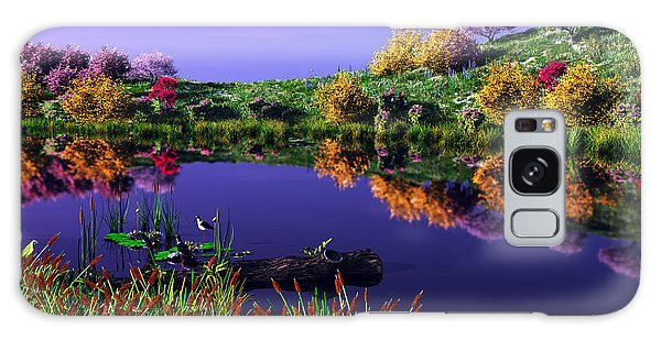 Colorful Pond Galaxy Case by Walter Colvin