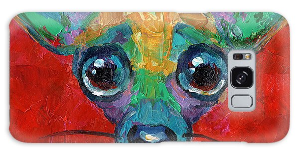 Colorful Pop Art Chihuahua Painting Galaxy Case