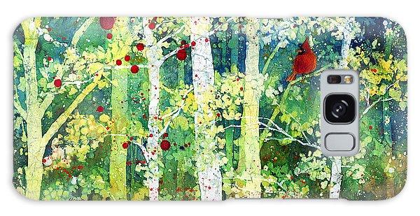 Cardinal Galaxy Case - Colorful Presence by Hailey E Herrera