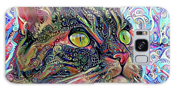 Colorful Psychedelic Cat Art Galaxy Case