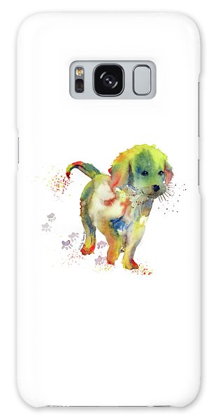 Colorful Puppy Watercolor - Little Friend Galaxy Case by Melly Terpening