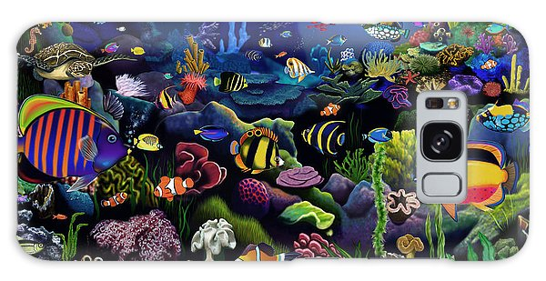 Scuba Diving Galaxy Case - Colorful Reef by MGL Meiklejohn Graphics Licensing