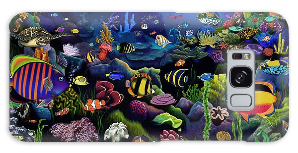Reef Diving Galaxy Case - Colorful Reef by MGL Meiklejohn Graphics Licensing