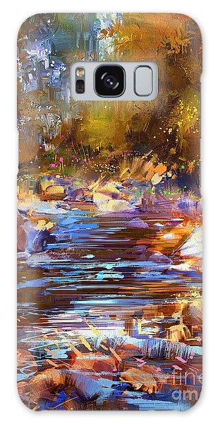 Colorful River Galaxy Case
