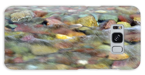 Colorful Rocks In Two Medicine River In Glacier National Park Galaxy Case